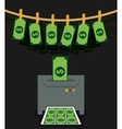 Money fraud and hacking design vector image