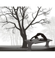 Gymnast on a table in in the park vector image
