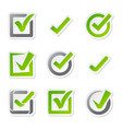 check box icons of vote mark sign choice yes vector image