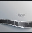 gray background with film strip vector image