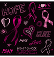 Breast Cancer Awareness Sketch vector image