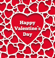 Happy Valentines Day greeting card hearts on the vector image