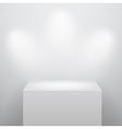 blank podium vector image vector image