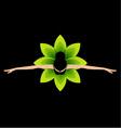 Ballet dancer top view vector image