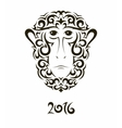 Greeting card with monkey - symbol of the New Year vector image vector image
