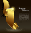 Camera film roll gold color vector image vector image