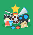 cinema and movie cartoon vector image