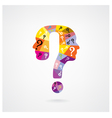 colorful question mark man head symbol vector image
