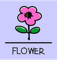 flower hand-drawn style vector image