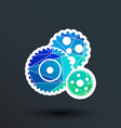 gear icon button logo symbol concept vector image
