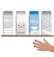 milk emotions a different vector image