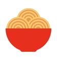 spaghetti dish isolated icon vector image