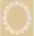 White oval frame vector image