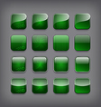 Set of blank green buttons vector image vector image