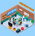 team of creatives isometric vector image vector image