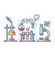 Chemical scientific experiment vector image