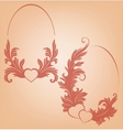 Romantic Valentines background heart ornate vector image
