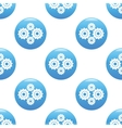 Gears sign pattern vector image