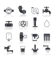 Water Supply Icons Black vector image