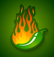 jalapeno in fire vector image