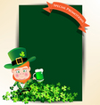 Man holding green beer jug for St Patrick s day vector image