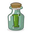 I in magic jar Letter to lab for tests and vector image