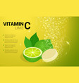 vitamin c lime soluble pills with lime flavour in vector image