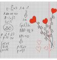 maths and love vector image