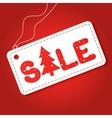 Big winter sale poster Discount tag sticker Mega vector image