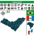map of alagoas brazil vector image