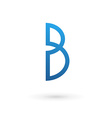 Letter B logo icon vector image