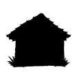 silhouette of house vector image vector image