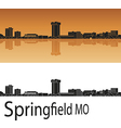Springfield skyline in orange vector image