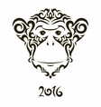 monkey - symbol of the New Year vector image vector image