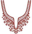 Neckline design fashion vector image