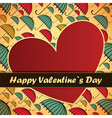 valentine day card with umbrellas and heart vector image vector image