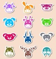 Animal labels vector image