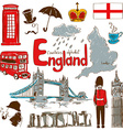 Collection of England icons vector image