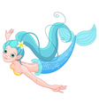 Cute Mermaid swimming vector image
