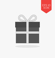 Gift icon Flat design gray color symbol Modern UI vector image