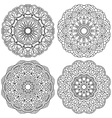 Set of ethnic round ornaments Mandala vector image