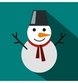 Snowman icon flat style vector image