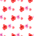 Spring seamless pattern with roses vector image
