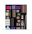Wardrobe inside for your design vector image