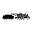 vintage train vector image
