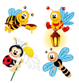 set of icon insects vector image