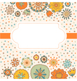 color decorative flower background vector image