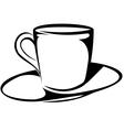 Coffee cup sketch vector image vector image