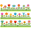 Floral borders with abstract flowers vector image vector image