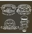 set of oktoberfest labels design elements vector image